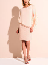 Frank Lyman Chiffon Overlay Sheath Dress, Pink, hi-res