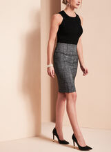 Novelty Print Pencil Skirt , Black, hi-res