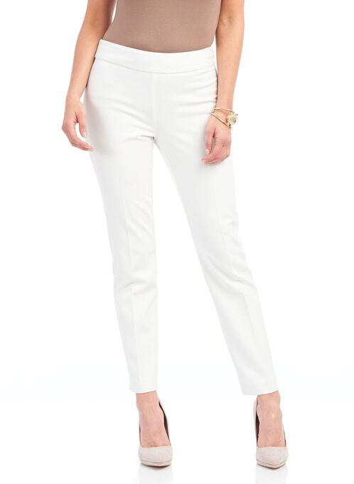 Faux Reese Pocket Slim Leg Pants, Off White, hi-res