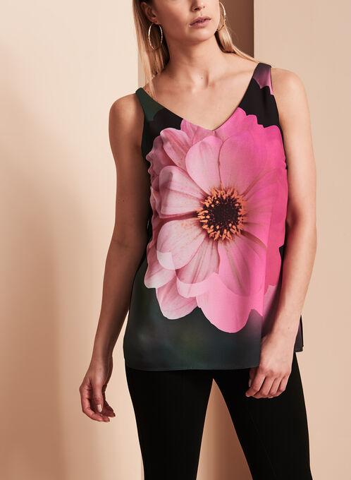 Frank Lyman Floral Print Blouse, Black, hi-res