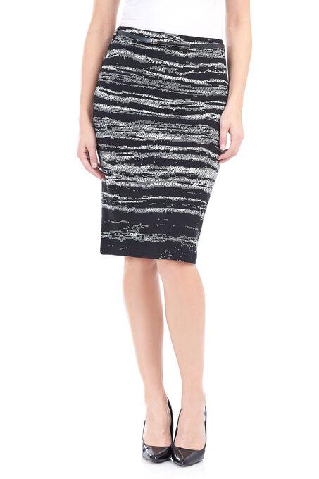 Vex Tweed Pencil Skirt , Black, hi-res