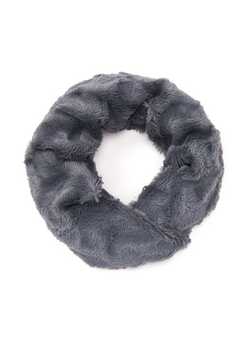 Faux Fur Loop Scarf, Brown, hi-res