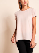 Crew Neck Slit Back Top, , hi-res