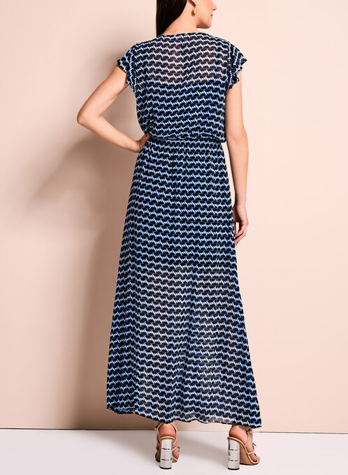 Maggy London Graphic Print Maxi Dress, Blue, hi-res