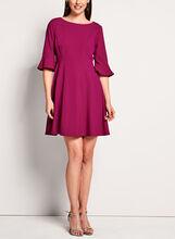 Tahari - 3/4 Sleeve Fit & Flare Dress, Pink, hi-res