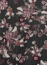 Floral Print Oblong Scarf, Green, hi-res