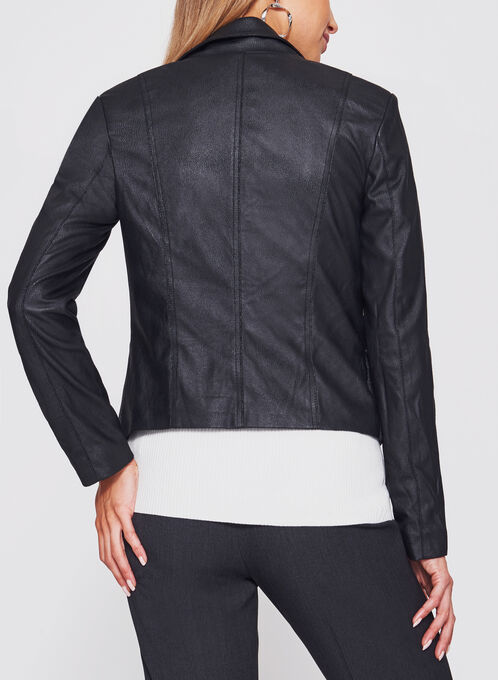 Perfecto Faux Leather Jacket, Black, hi-res