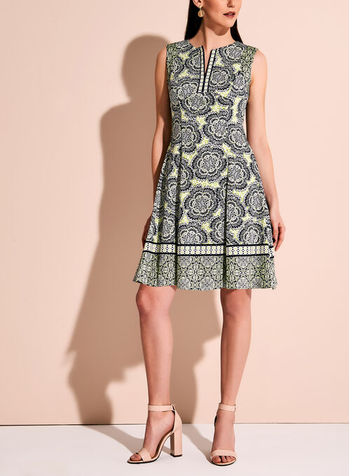 Maggy London Graphic Floral Print Dress, Multi, hi-res