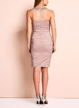 Decode 1.8 - Embellished Crushed Sheath Dress, Pink, hi-res