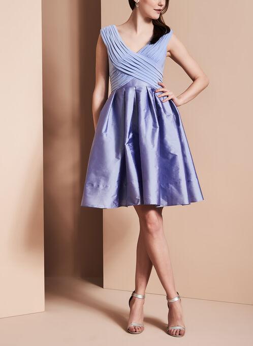 Adrianna Papell - Taffeta Dress, Purple, hi-res