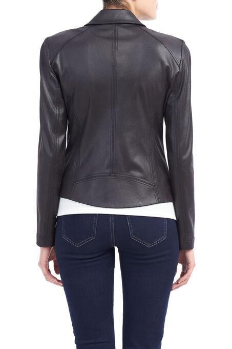 Vex Faux Leather Jacket , Black, hi-res