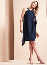 Vince Camuto Beaded Chiffon Dress, Blue, hi-res