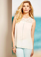 Lily Moss Lace & Pointelle Blouse, , hi-res