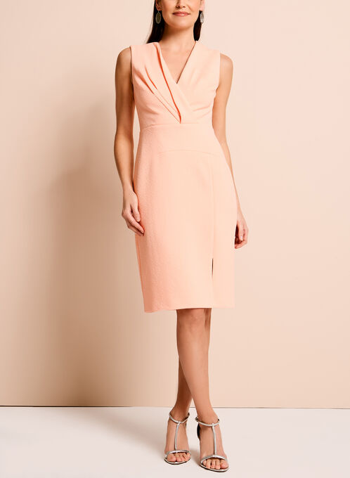 Adrianna Papell - Textured Knit Dress, Pink, hi-res