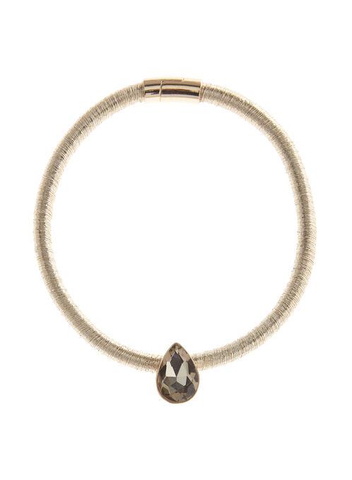 Collier avec pendentif en cristal sur cordon, Or, hi-res