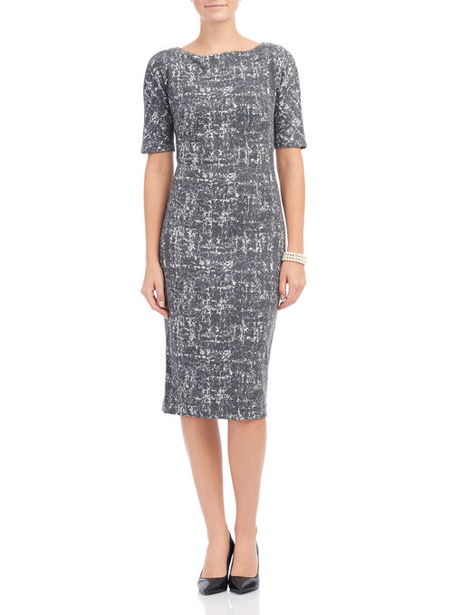 Maggy London Textured Knit Dress, Grey, hi-res