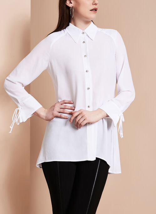 Frank Lyman High Low Blouse , White, hi-res