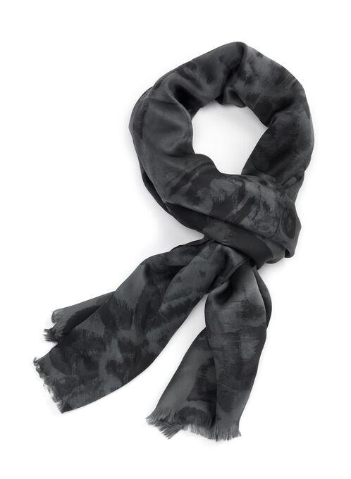 Ralph Lauren Silk Scarf, Black, hi-res
