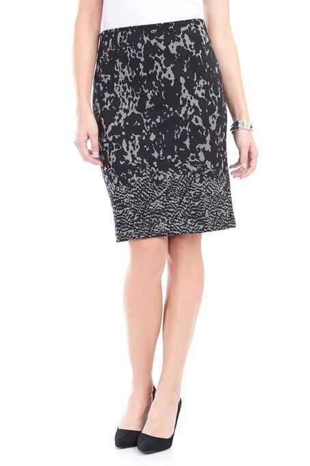 Trisisto Jacquard Pencil Skirt , Black, hi-res