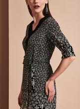 Linea Domani 3/4 Sleeve Graphic Print Dress, Black, hi-res