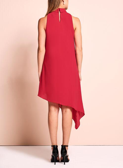 Maggy London - Asymmetric Choker Dress, Red, hi-res