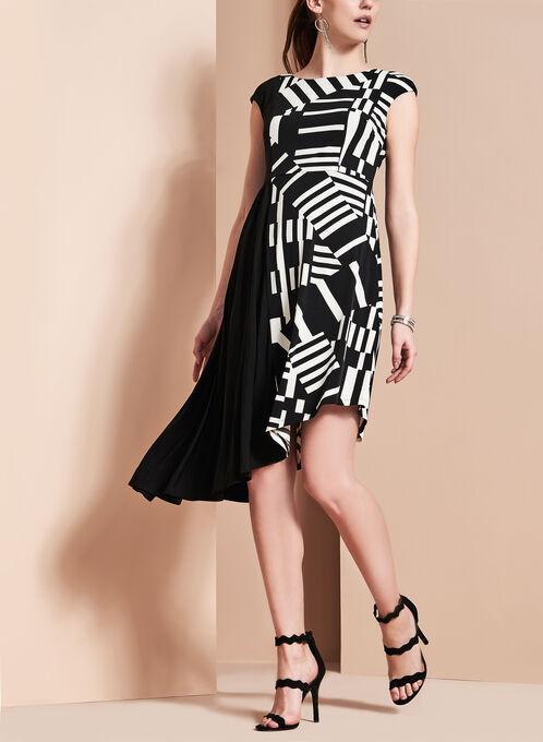 Maggy London Graphic Print Dress, Black, hi-res