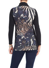 Vex Cowl Neck Tunic Sweater, Black, hi-res