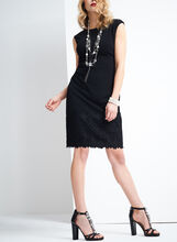 Maggy London Crepe Shift Dress, Black, hi-res
