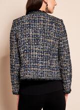 Pearl Embellished Tweed Blazer, Blue, hi-res
