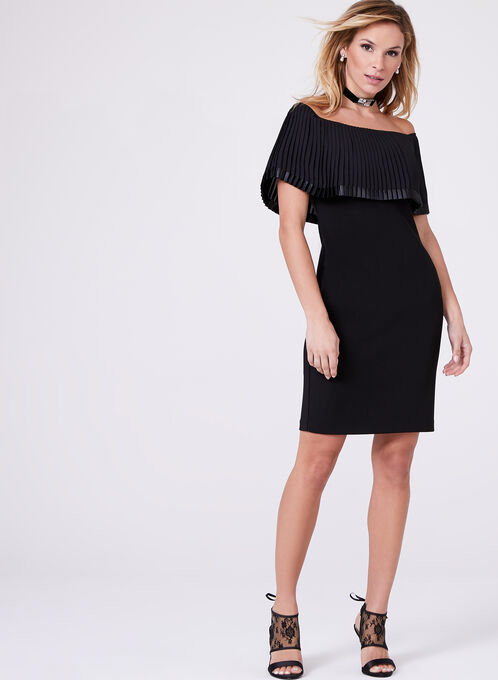 Frank Lyman - Off The Shoulder Embellished Dress, Black, hi-res