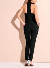 Halter Neck Tuxedo Jumpsuit, Black, hi-res