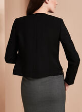 Tahari Eyelet Trim Jacket, Black, hi-res