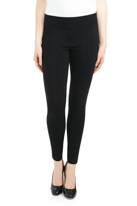 Pull-On Ponte Slim Leg Pants, Black, hi-res