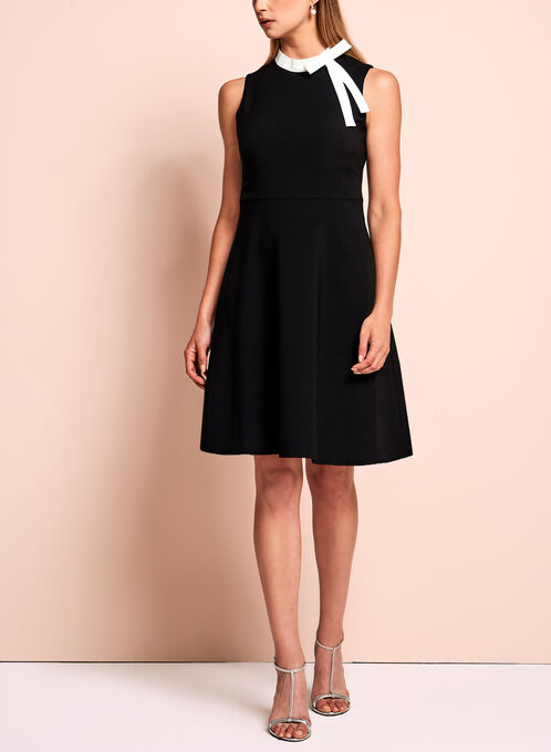 Maggy London Fit & Flare Dress, Black, hi-res