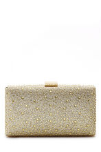 Scattered Crystal Box Clutch, , hi-res