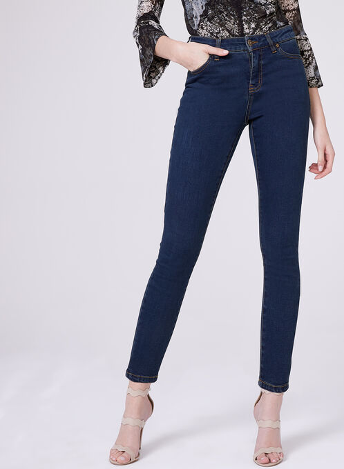 PETITES - Sculpting Slim Leg Jeans, Blue, hi-res