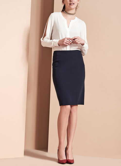 Louben - Pencil Skirt, Blue, hi-res