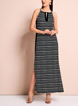 Stripe Print Jersey Maxi Dress, , hi-res
