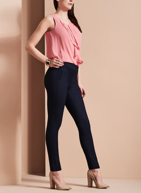 Indigo Slim Leg Pants, Blue, hi-res