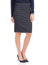 Trisisto Back Zipper Pencil Skirt, Black, hi-res