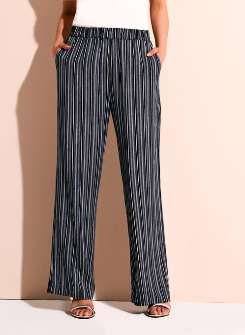 Linea Domani Graphic Stripe Wide Leg Pants, Blue, hi-res