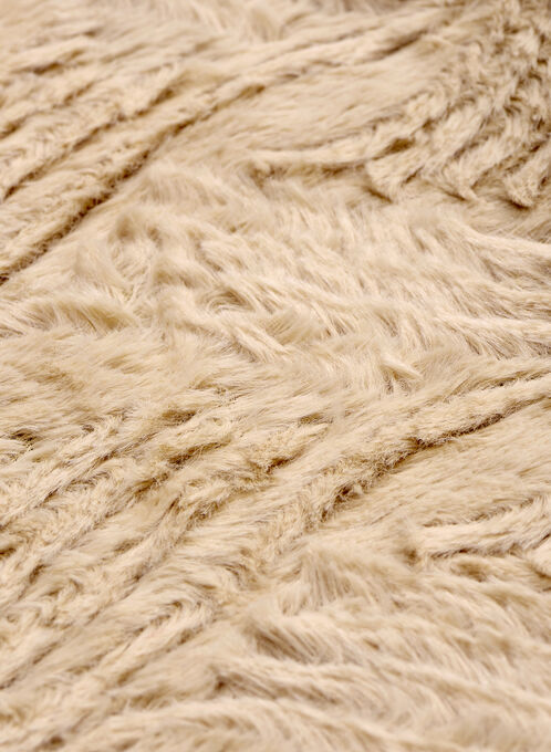 Wave Pattern Faux Fur Loop Scarf, Brown, hi-res