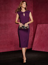 Chetta B - Sleeveless Sheath Dress, Purple, hi-res
