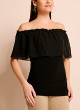 Off The Shoulder Ruffle Trim Blouse, , hi-res