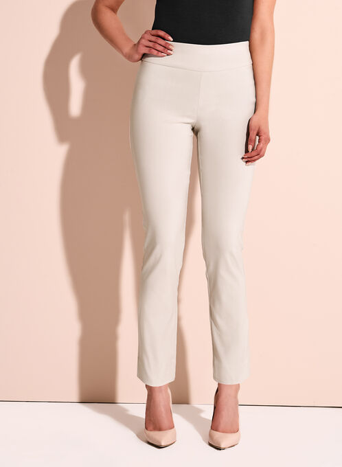 Pull On Slim Leg Pants, Grey, hi-res