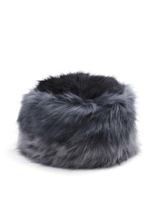 Dégradé Faux Fur Hat, Black, hi-res