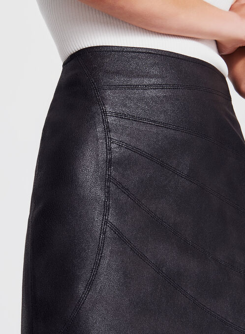 Vex - Faux Leather Pencil Skirt, Black, hi-res