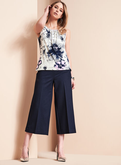 Wide Leg Culottes, Blue, hi-res