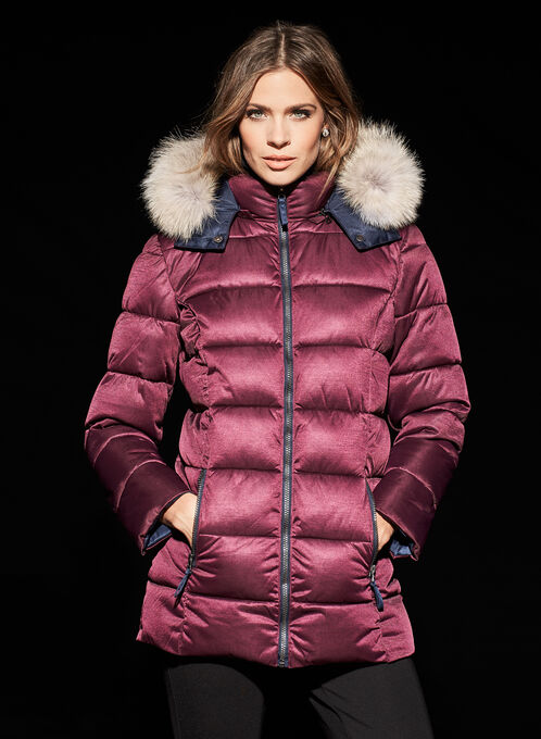 Techno Arctic Fill Jacket with Coyote Fur , Purple, hi-res