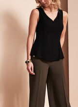 Sleeveless V-Neck Top , , hi-res